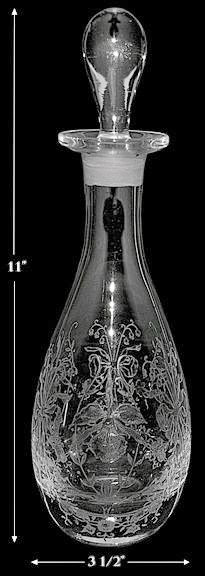 Heisey Orchid #4036-1/2 One Pint Decanter -- PRISTINE