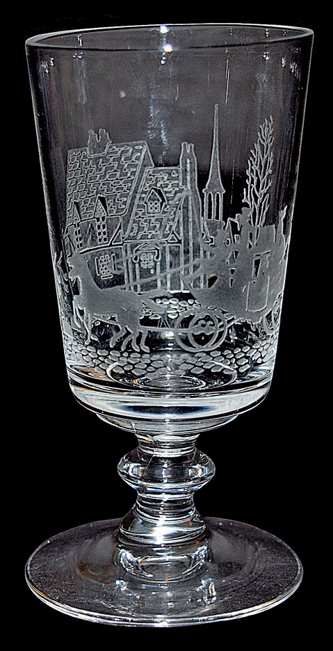 Heisey Tally Ho #4002 - 4oz. Cocktail Glass / Goblet