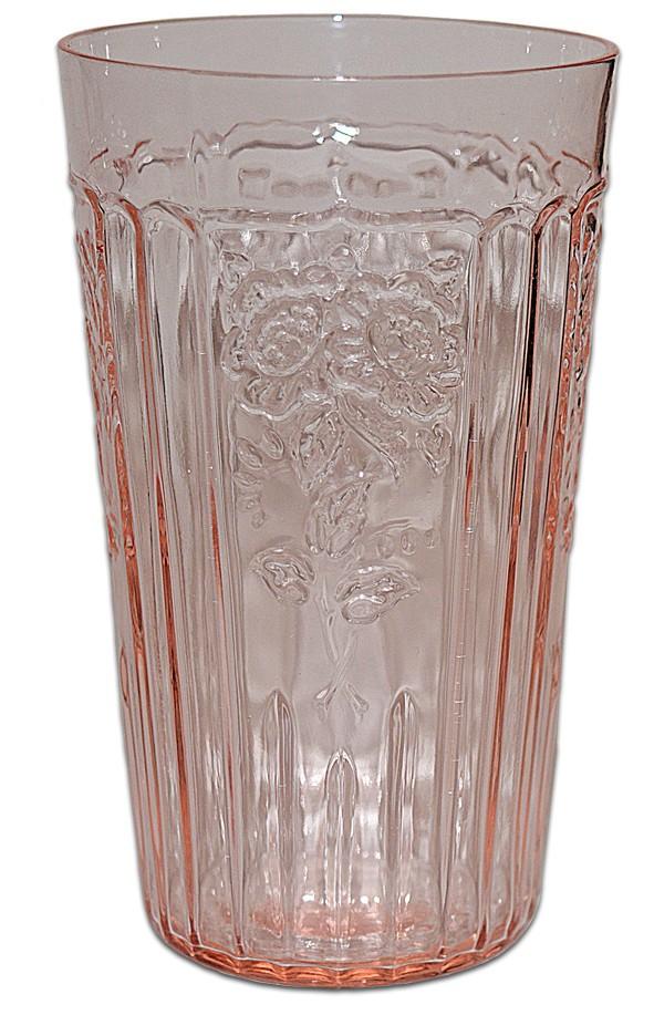Hocking Mayfair Pink 5 1/4 Inch Flat Ice Tea Tumbler DONE
