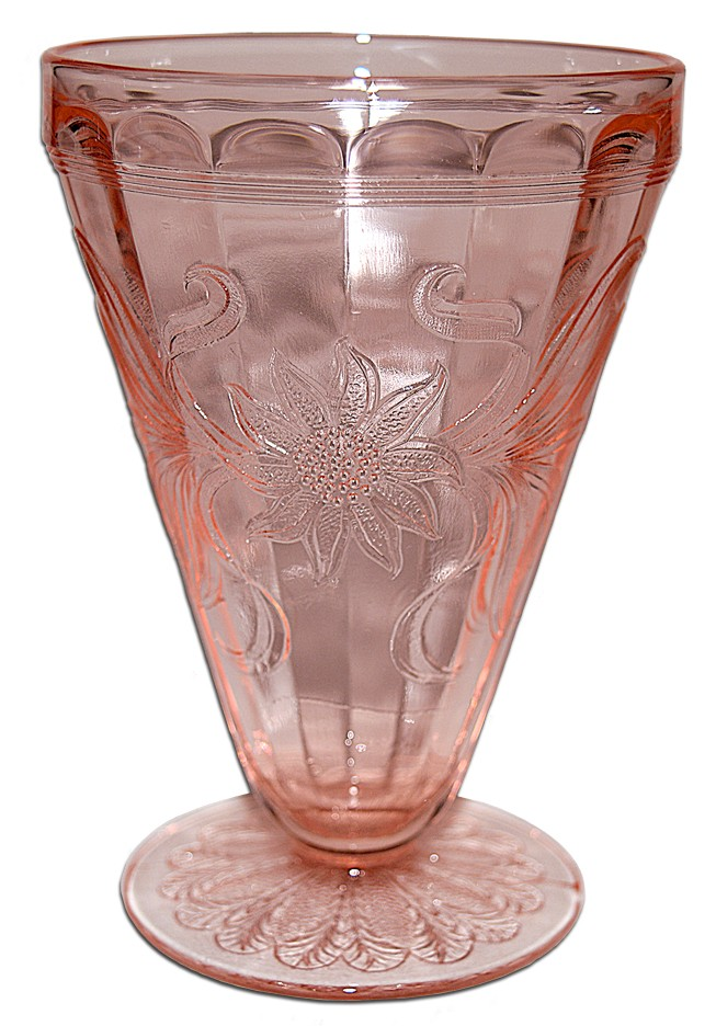 Jeannette Sunflower PInk Footed Tumbler