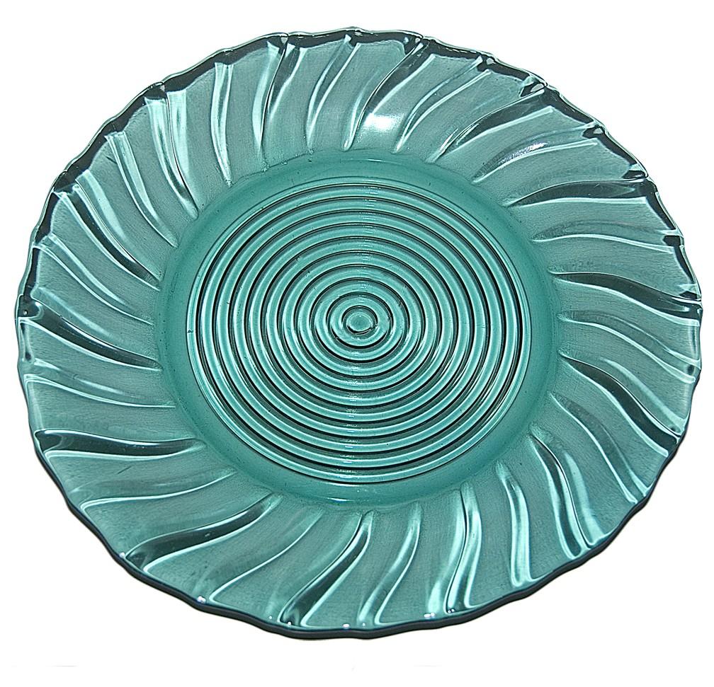"Jeannette Swirl Ultramarine 9"" Dinner Plate"