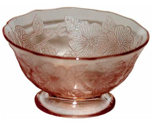 Macbeth Evans Dogwood Pink Depression Glass Sherbet
