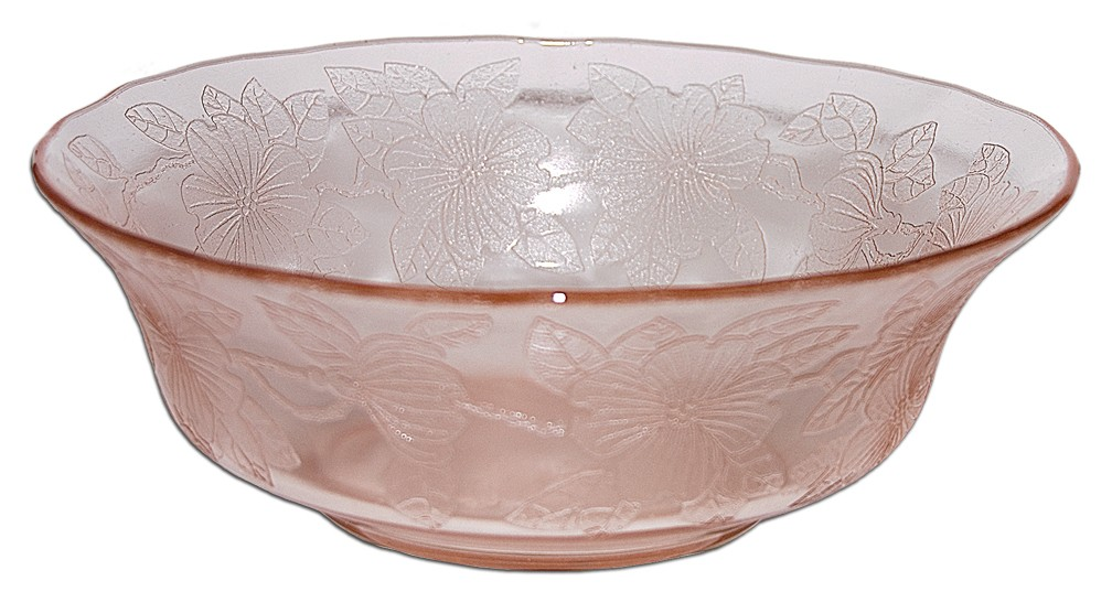 "Macbeth Evans Dogwood Pink Large Berry /  8 1/2"" Serving Bowl"