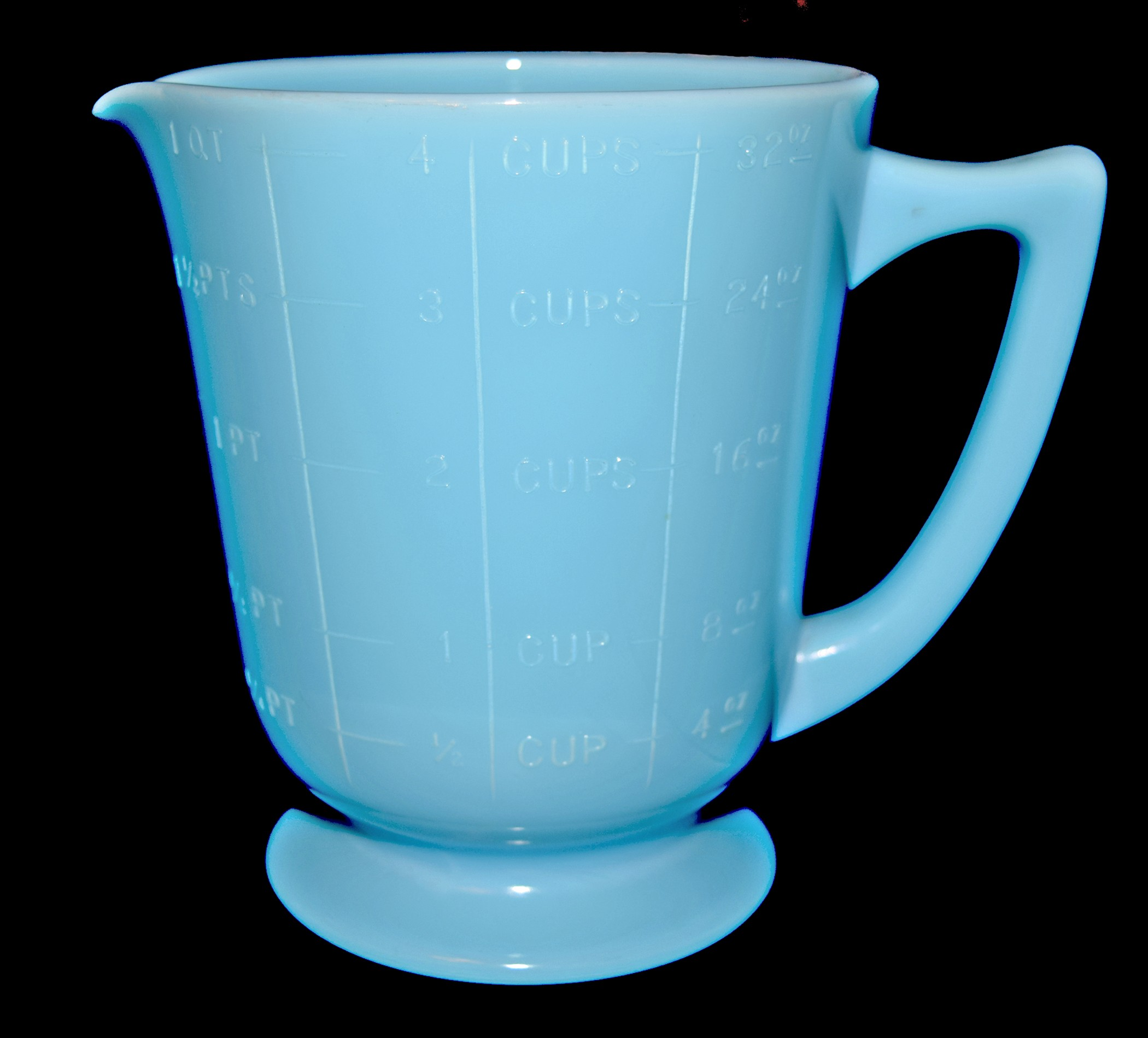 McKee Chalaine Blue Scarce No.10 - Quart Measuring Cup / Batter Jug