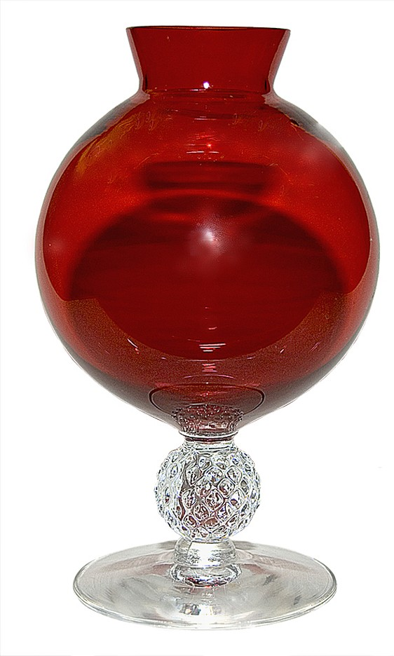 Morgantown Golf Ball Spanish Red Rose Bowl / Vase
