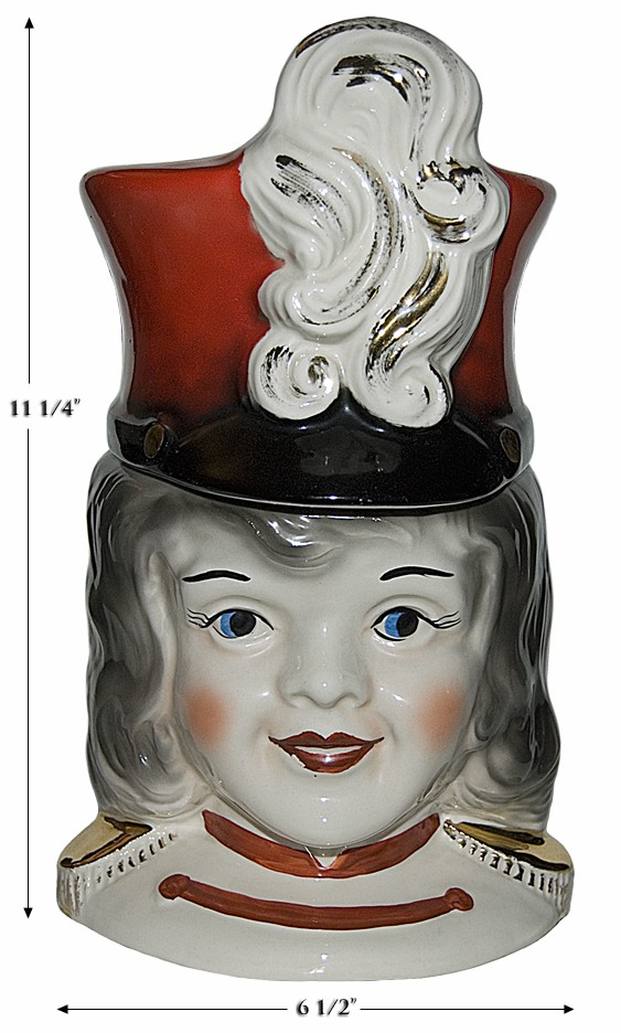 Regal China Majorette Cookie Jar --- SUPER NICE