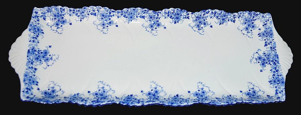 Shelley Dainty Blue on Dainty Blank Scarce Bread Tray