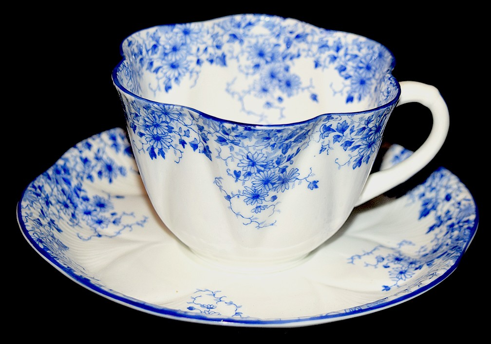 Shelley Dainty Blue on Dainty Blank Cup and Saucer