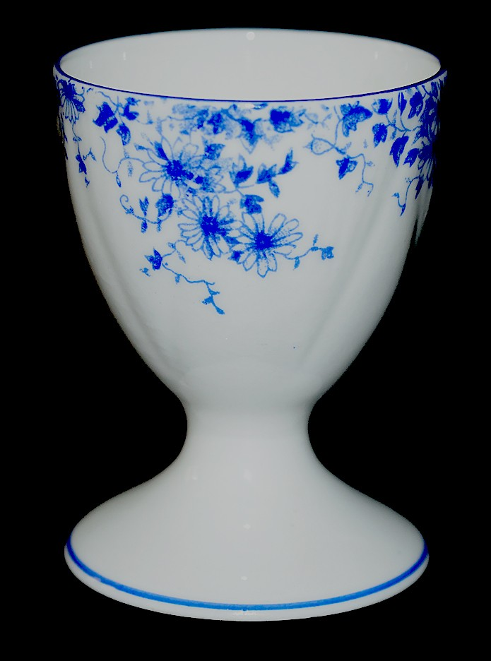 Shelley Dainty Blue Egg Cup on Dainty Blank