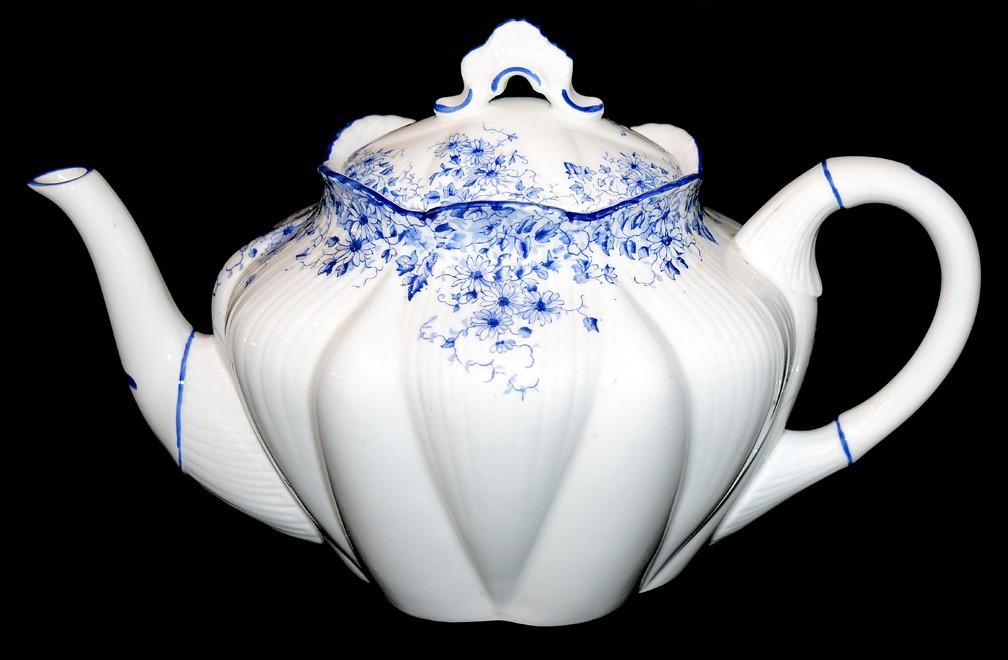 Shelley Dainty Blue on Dainty Blank Scarce Teapot DONE