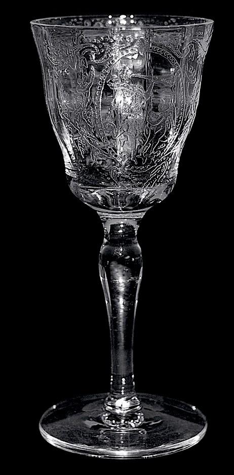 Tiffin Crystal Lotus Springtime #1125 / 15042 Cordial Goblet