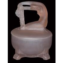Depression Deco Pink Satin Dermay Rapunzel / Bubble Lady Powder Jar