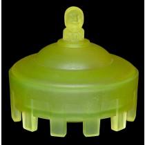 Taussaunt Beaumont Vaseline Satin Court Jester Powder Jar