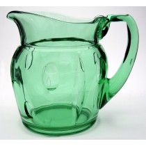 Duncan and Miller Plaza Deco Green Pitcher