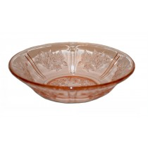 Federal Glass Company Sharon Pink Cereal Bowl