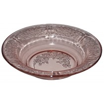 Federal Glass Company Sharon Pink Flat Soup Bowl