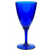 Fenton Royal Blue / Cobalt Diamond Optic #1502 Water Goblet