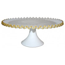 Fenton Gold Crest  #7213 Footed Cake Plate
