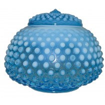 "Fenton Hobnail Blue Opalescent #389 - 5"" Covered Jar / Candy - Extremely RARE"