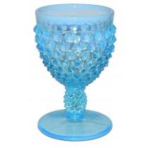 Fenton Hobnail Blue Opalescent #3843 Round Wine Goblet
