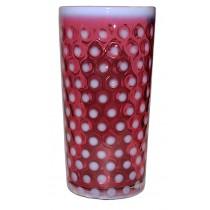 Fenton Polka Dot Cranberry Opalescent Hard to Find Ice Tea Tumbler