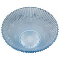 "Fenton #1800 Sheffield Silvertone Etched Blue Satin 10 1/2"" Large Salad Bowl"