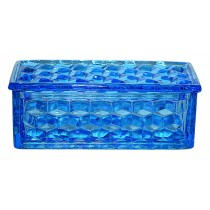 Fostoria American RARE Dark Blue Jewel Box