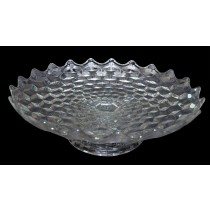 "Fostoria American 16"" footed Salver / Shallow Bowl"