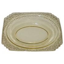 Fostoria Minuet  (Plate Etching #285) #2419 - Oval Baker / Bowl