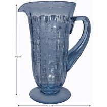 Fostoria Versailles Blue #5000 Footed Pitcher -AWESOME!
