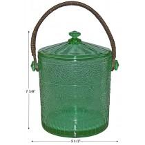Fry Art Glass Sunnybrook Green Cookie Jar