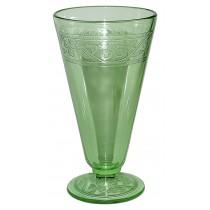 Hazel Atlas Cloverleaf  Green Footed Elusive Ice Tea Tumbler