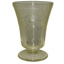 Hazel Atlas Florentine 2 / Poppy Yellow Footed Juice Tumbler