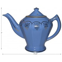 Hall China Albany Cadet Standard Gold 6 Cup Teapot - Pristine Condition