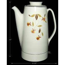 Hall China Autumn Leaf Electric Percolator --- Pristine!