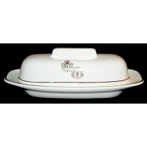Hall China RX (Pharmacy) 1/4 Pound Butter Dish - Hard to Find