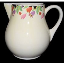 Hall China Crocus Scarce Simplicity Jug / Pitcher- Great Decals and Good Trim