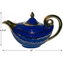 Hall China Aladdin Marine Swag Teapot