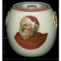 Hall China Red Monk Hard to Find Pretzel Jar / Biscuit Jar