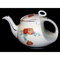 Hall China Orange Poppy SUPER NICE Streamline Teapot