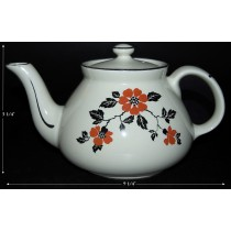Hall China Red Poppy New York 6 Cup Teapot