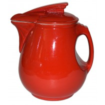 Hall China Sundial Chinese Red Syrup Jug DONE