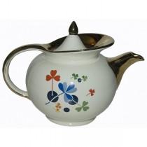 Hall China Golden Clover Windshield Teapot