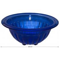 "Hazel Atlas Cobalt Ribbed 10 3/4"" Mixing Bowl--SCARCE"