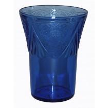 Hazel Atlas Royal Lace Cobalt 9 oz. Water Tumbler DONE