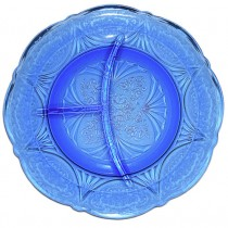 Hazel Atlas Royal Lace Cobalt Blue Grill Plate