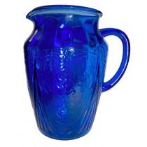 Hazel Atlas Royal Lace HTF Blue / Cobalt 64 oz Pitcher / Jug NIL