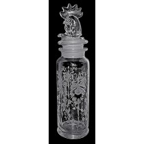Heisey Orchid HARD TO FIND #4425 Cobel 1 Quart Rooster Cocktail Shaker