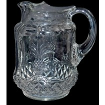 Heisey Plantation Crystal Pitcher - Pristine!