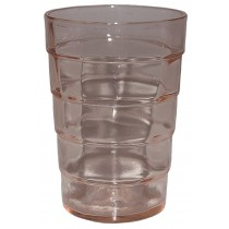 "Hocking Block Optic PInk 3"" Juice Tumbler"